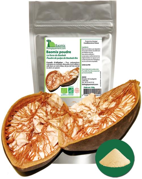 Acheter de la poudre de baobab bio sur la boutique Biologiquement.com